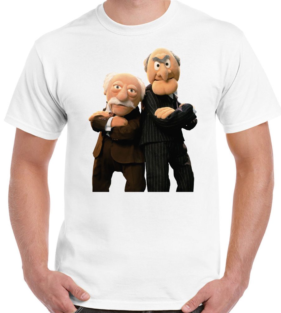 The Muppets Grumpy Old Men Mens Funny T Shirt Retro Man Statler and Waldorf New T Shirts Funny Tops Tee New Unisex Funny in T Shirts from Men 39 s Clothing