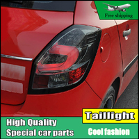 Car Styling tail lights For Skoda Fabia 2008 2012 LED Tail Lamp rear trunk lamp cover drl+signal+brake+reverse Light