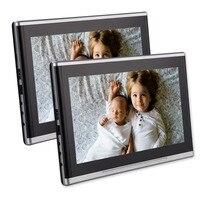 Twin 10.1 дюймов авто подголовник dvd плеер ультра тонкий HD двойной Экран Мониторы заднего сиденья Развлечения Системы для дети с HDMI