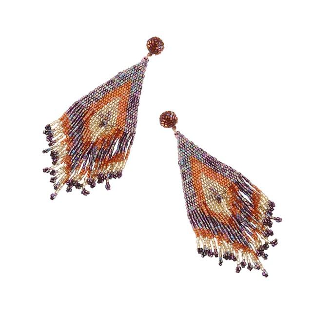 Handmade Beads Long Earrings  3
