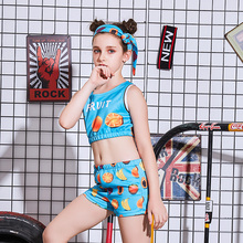 New childrens costumes girls models show costume stage fashion street dance jazz set