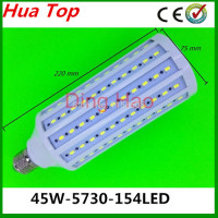 Free shipping 1pcs Lampada E27 E40 B22 45W 5730 epistar Smd 154 led Motion sensor lamps 110V/220V Body sensors White/Warm White