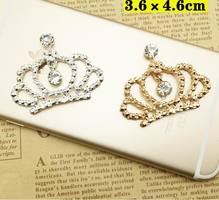 36*46 мм 20 штук серебро/золотая корона украшения для волос diy аксессуары для волос HBC321
