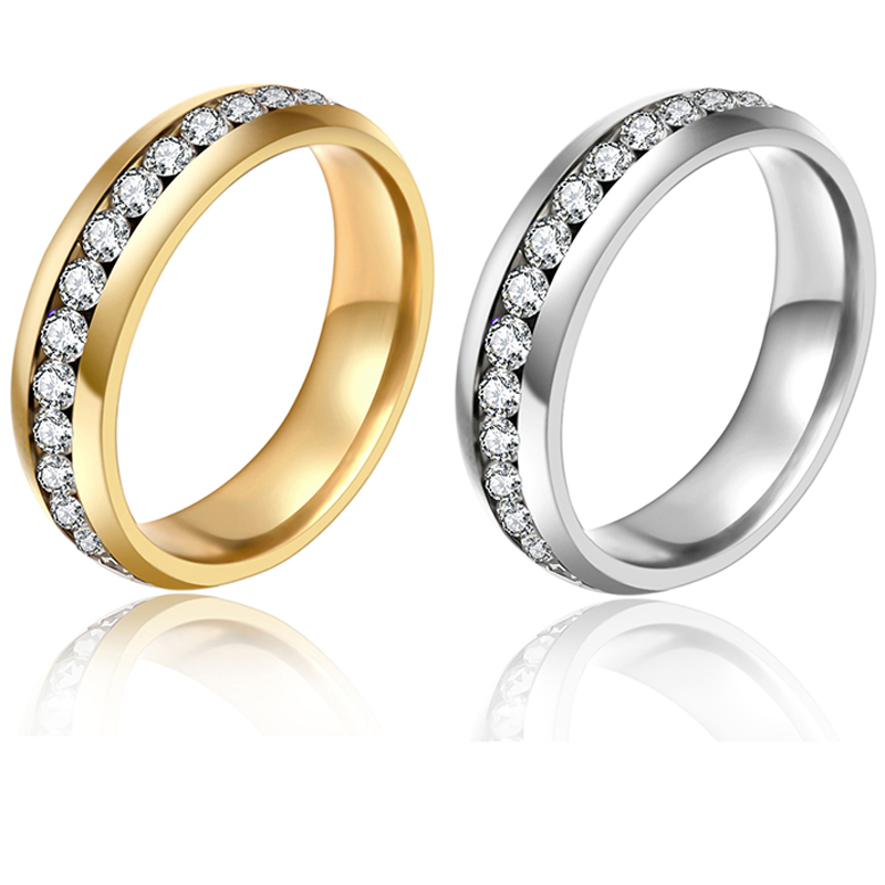 2016 Classic Gold Color Rings,Fashion Jewelry Engagement Wedding Gift Rings Set 316L Stainless Steel,Free Shipping G21