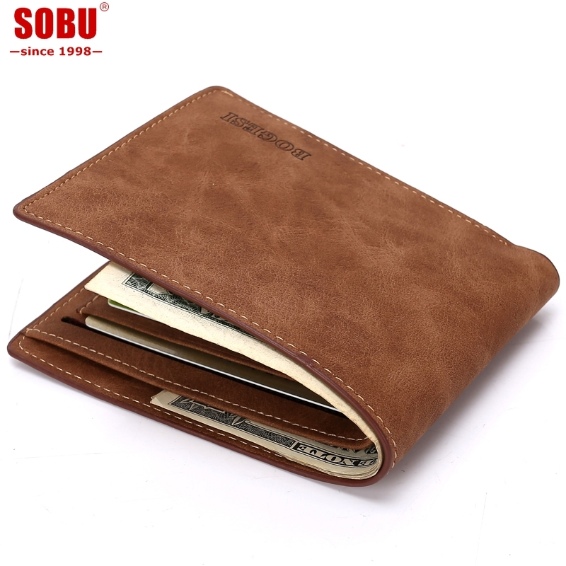 New Design Dollar Price Top Male Wallet Purse Pu Leather Vintage Design Purse Men Brand Famous Card holder Mens Wallet R003 купить