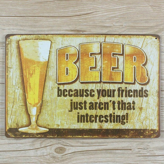 Free ship Drink Wine Beer Poster Vintage Bar Pub Cafe Restaurant Tin ...
