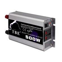 цена на 500W Car Inverter DC 12V/24V to AC 220V 50Hz Pure Sine Wave Power Inverter Auto USB Charger Converter Peak Power 1000W