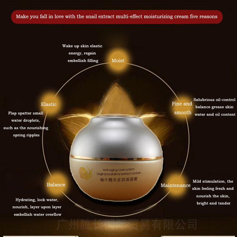 55g Preserving skin health anti wrikle  care firming essence Snail extract multi-effect moisturizing cream