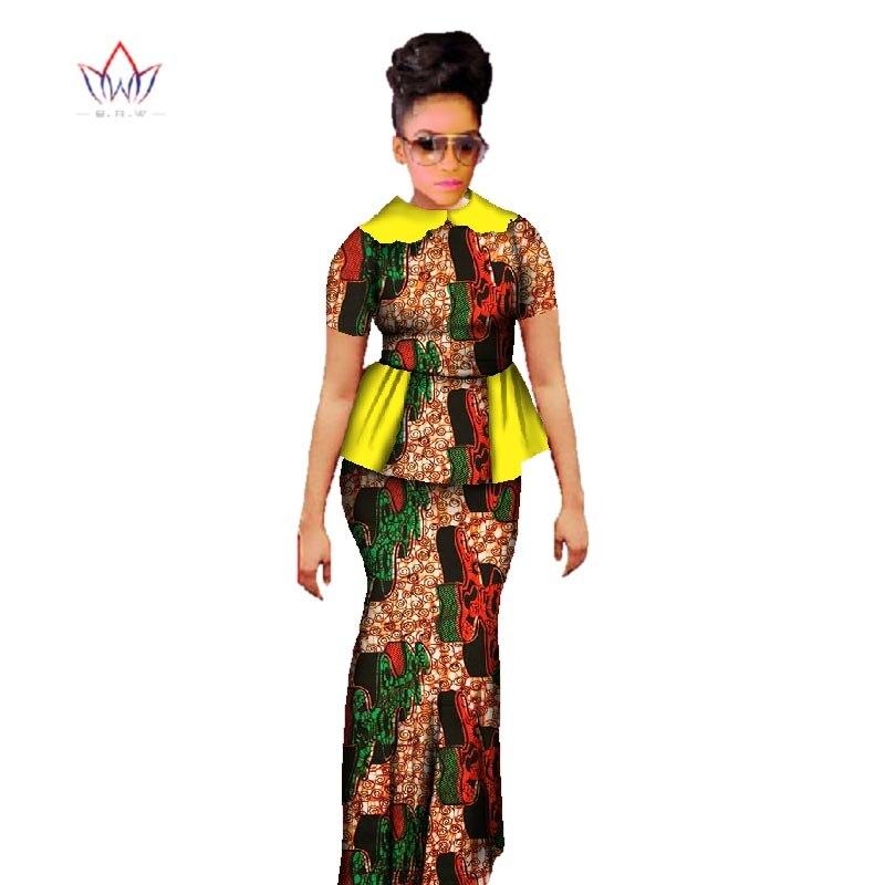 Plus Size 2019 Dashiki African Wax Տպելու փեշ - Կանացի հագուստ - Լուսանկար 4