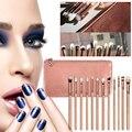 Professional 12PCS Eyeliner Eyeshadow Pencil Makeup Brushes Set With Bag