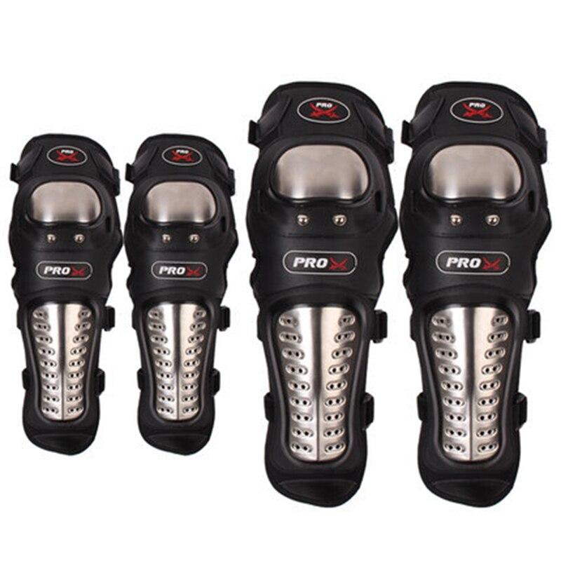 Professionnel En Acier Inoxydable Réel Motocross Moto Équipement De Protection Genouillère Coude Protecteur Genou De Protection Pad