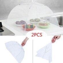 2 большой всплывающий сетчатый защитный чехол для еды, купол для палатки, сетчатый зонтик для пикника, противомоскитная Крышка для стола, палатка, кухонные аксессуары