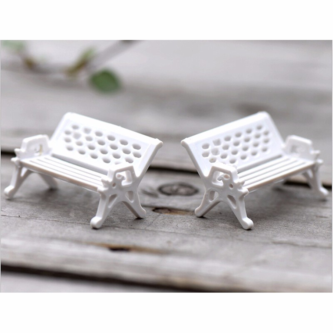 Home decoration accessories Latest 1Pcs Miniature White Chair Christmas Diy Plastics Fairy Garden Craft Decoration