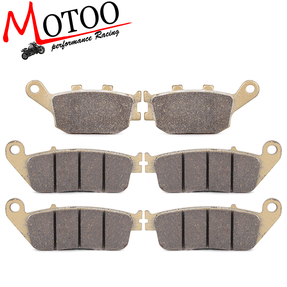 Motoo - Motorcycle Front and Rear Brake Pads For HONDA CB600F Hornet 1998-2006 motoo motorcycle front and rear brake pads for honda xrv750 africa twin 1994 2003