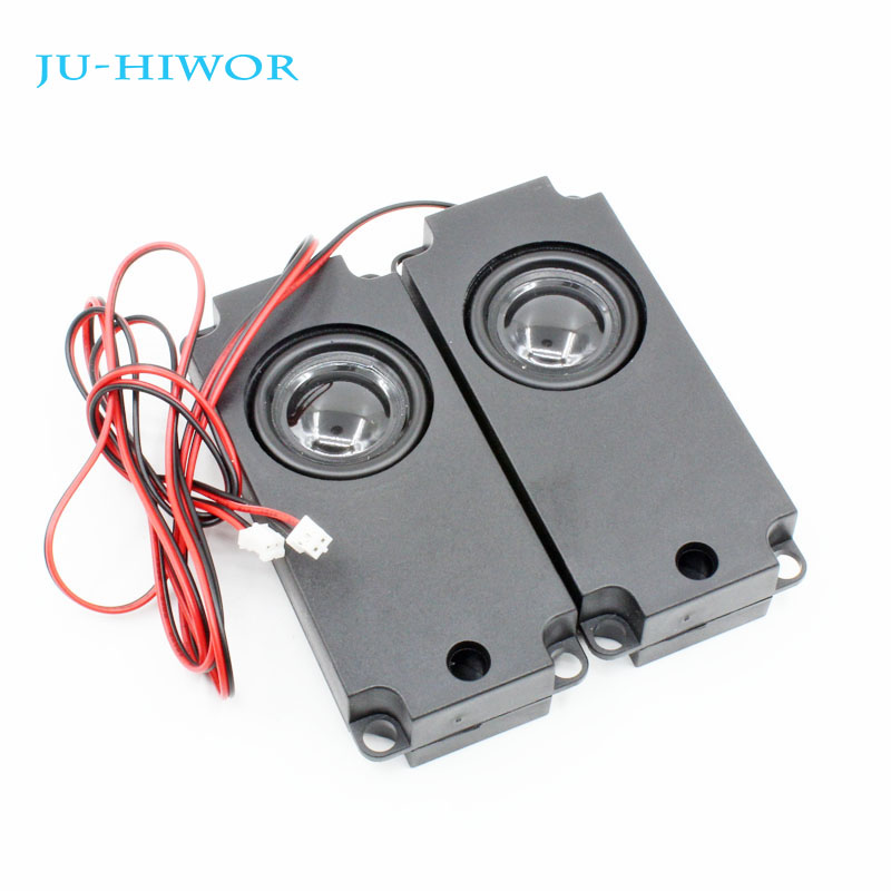 2pcs <font><b>8</b></font> <font><b>Ohm</b></font> <font><b>5W</b></font> Loudspeaker Multimedia <font><b>Speaker</b></font> For Advertising Machine With Wire Embedded Box Loudspeaker PU Edge 45*100*21MM image
