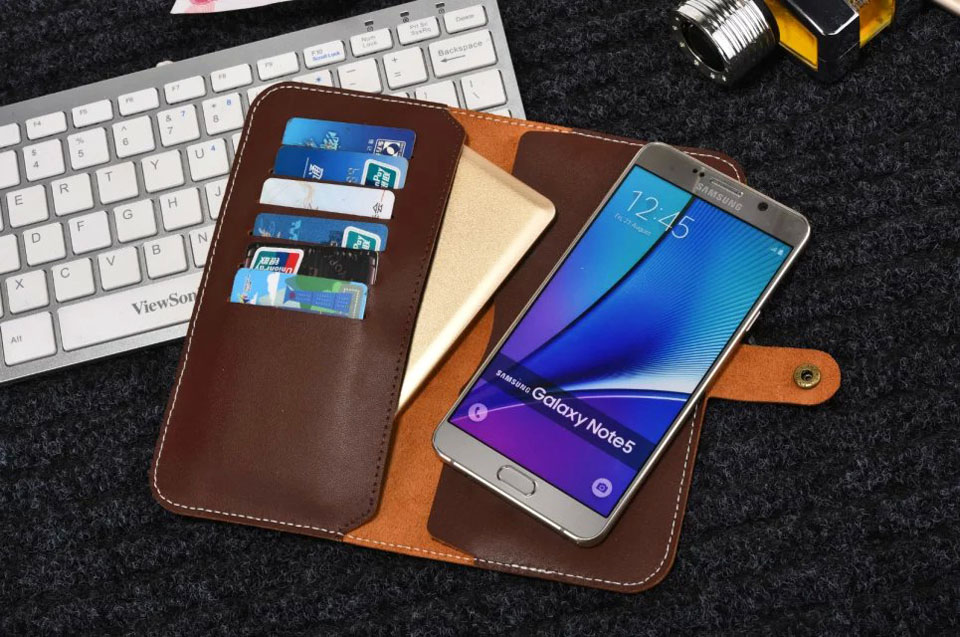 100 Genuine Leather Wallet Cell Phone Case Card Pouch Buckle For Motorola Moto Z Play Moto