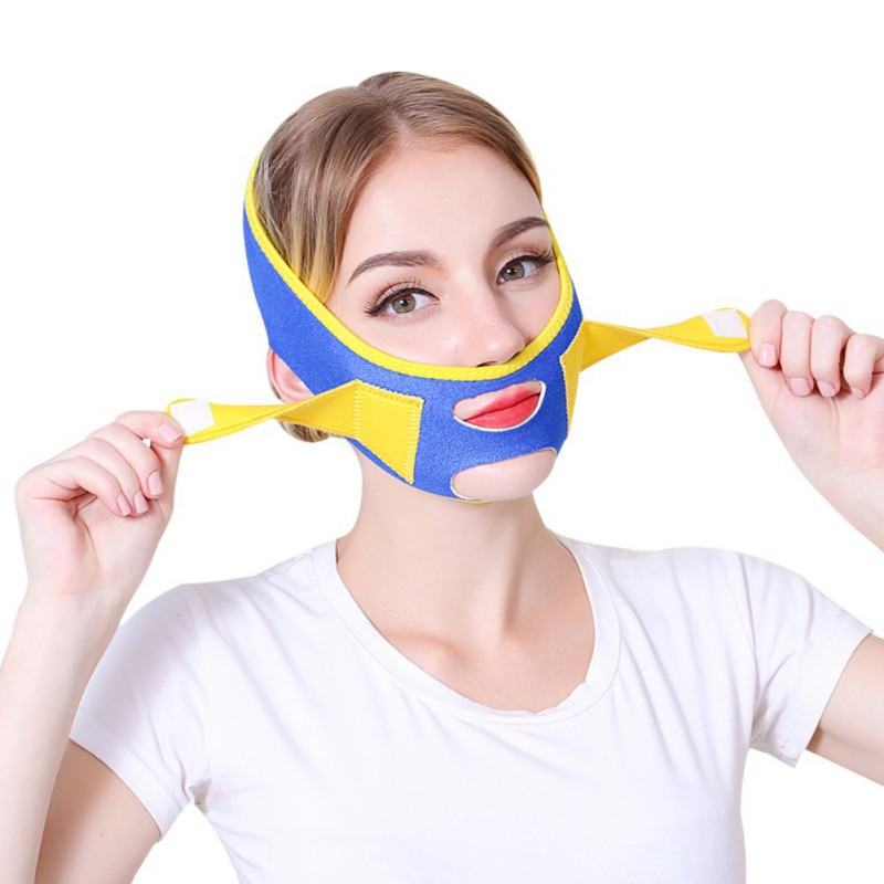 Face V Shape Lift Massager Mask Belt Facial Massager Anti Wrinkle Reduce Double Chin Bandage Face Shaper