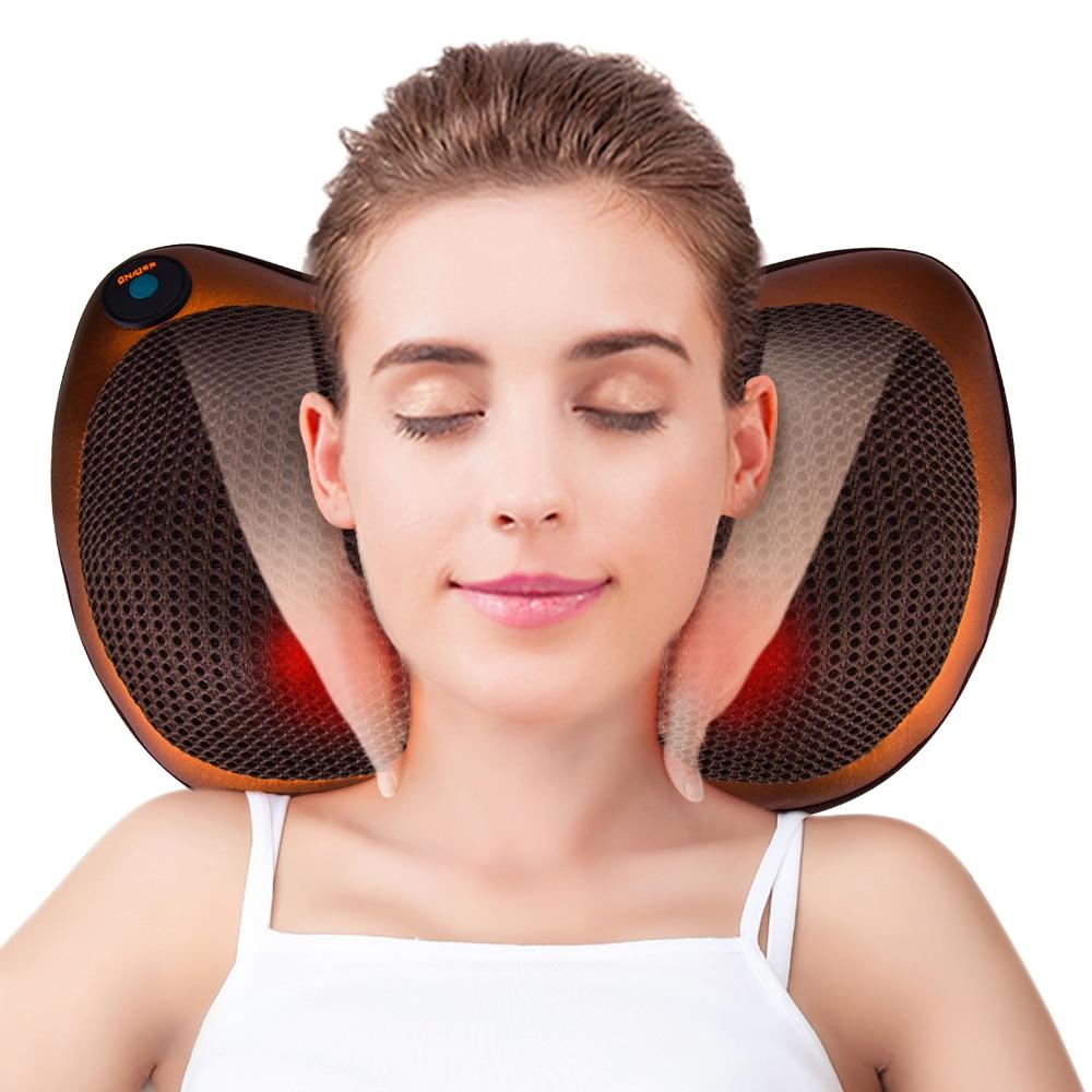 Relaxation Massage Pillow Electric Shoulder Neck Infrared Heating Massager Car Home Shiatsu Massage Tool Relieve Stress Pillow
