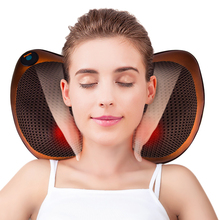 Relaxation Massage Pillow Electric Shoulder Neck Infrared Heating Massager Car Home Shiatsu Massage Tool Relieve Stress Pillow yl 60201 practical useful car home 2 in 1 brain relaxing massage pillow for improving neck shoulder ache top quality