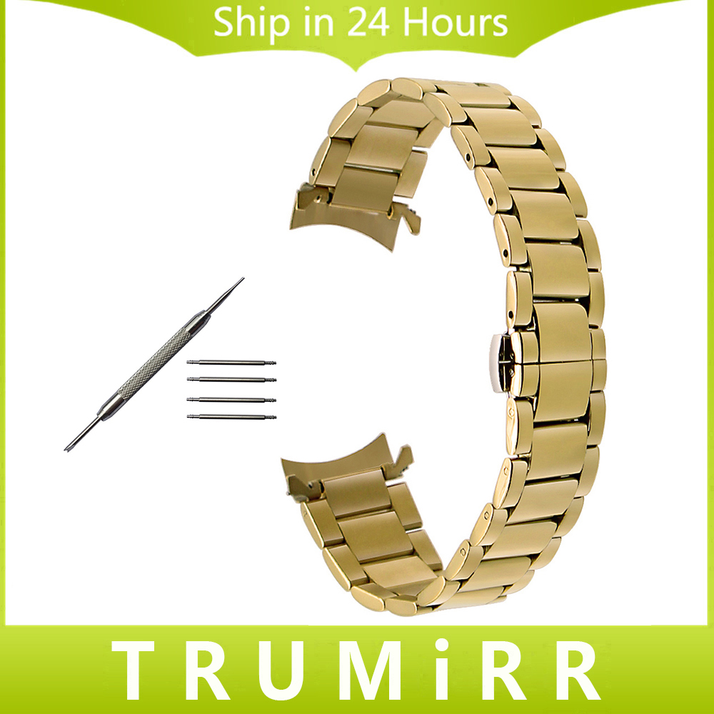 Stainless Steel Watchband Curved End Strap for Timex Men Women Watch Band Wrist Bracelet Gold Black 14mm 16mm 18mm 20mm 22mm curved end stainless steel watch band for breitling iwc tag heuer butterfly buckle strap wrist belt bracelet 18mm 20mm 22mm 24mm page 2