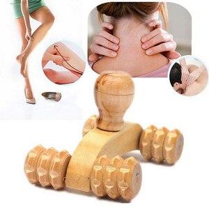 Image 3 - Gỗ Chắc Chắn Toàn Cơ 4 Bánh Xe Bằng Gỗ Xe Lăn Thư Giãn Tay Dụng Cụ Massage Bấm Huyệt Mặt Tay Chân Lưng Cơ Thể massage Trị Liệu