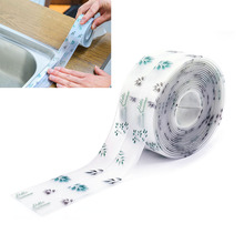 Self-Adhesive Bathroom Seal Strip Glue Kitchen Waterproof Stickers 3.8cmx3.2m Acrylic Adhesive Mildew-Proof