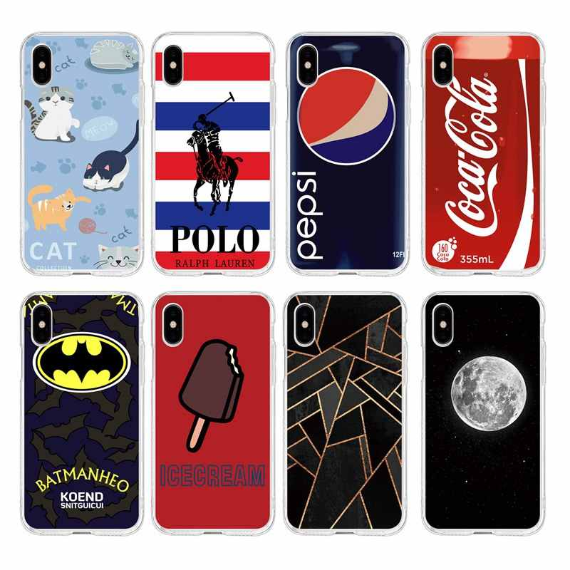 Mode tij ster Maan ijs TPU Telefoon Case Voor iPhone 6 6 S Plus 7 7 Plus 8 Plus iPhone X 5 s 4 s C121