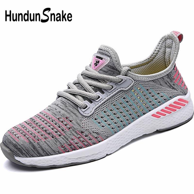 ad1d465c18 Hundunsnake Mesh Women Running Shoes Sports Woman Sport Sneakers Summer  Footwear Gray Chaussure Femme Training Trainers B-031