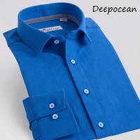 Deepocean Brand Cloting Men Shirt Plus Size Cotton Shirt Men Clothes Long SleeveTurn Down Collar Casual Shirts Camisa De Hombre