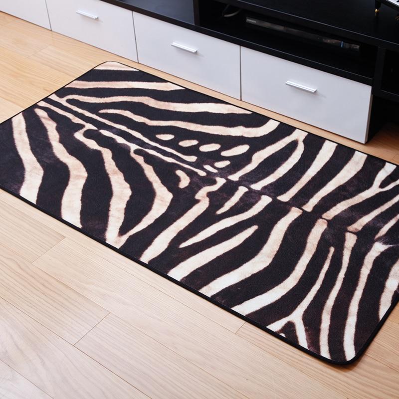 80*150cm Fashion Zebra Print Carpet Doormat Sofa Bedroom