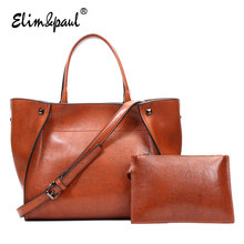 ELIM&PAUL Women Top-Handle Bags Female Large Tote Shoulder Bags Women Leather Handbag Crossbody Bag bolsos mujer YL-B04