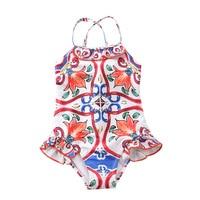 dba78a355ff9bd Vintage dla niemowląt dziewczyna stroje kąpielowe niemowlę maluch 6 M dziecko  strój kąpielowy 12 miesięcy piękne
