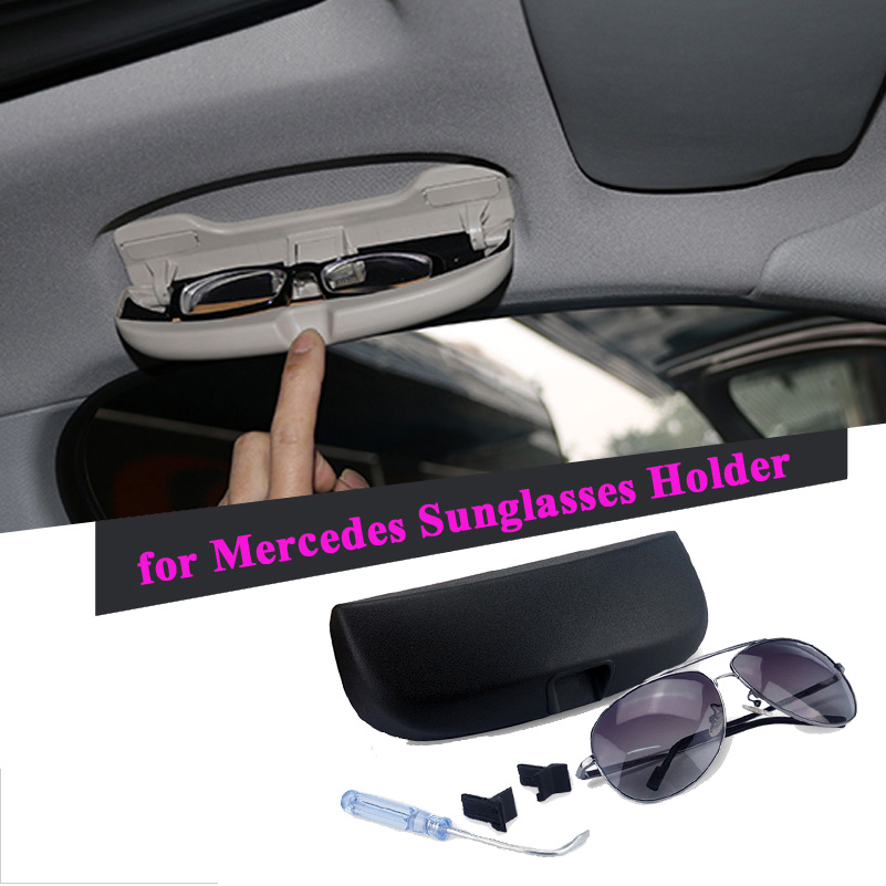 Car Sunglasses Storage Box Eyeglasses Holder Case For