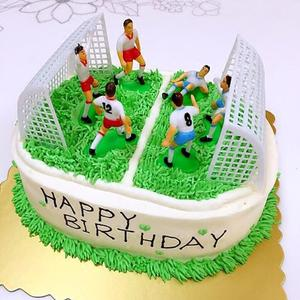 1 Set Football Game Cake Topper DIY kids Birthday party cake decoration Kids Doll Toy Soccer Baking Cupcake Party Supplies(China)