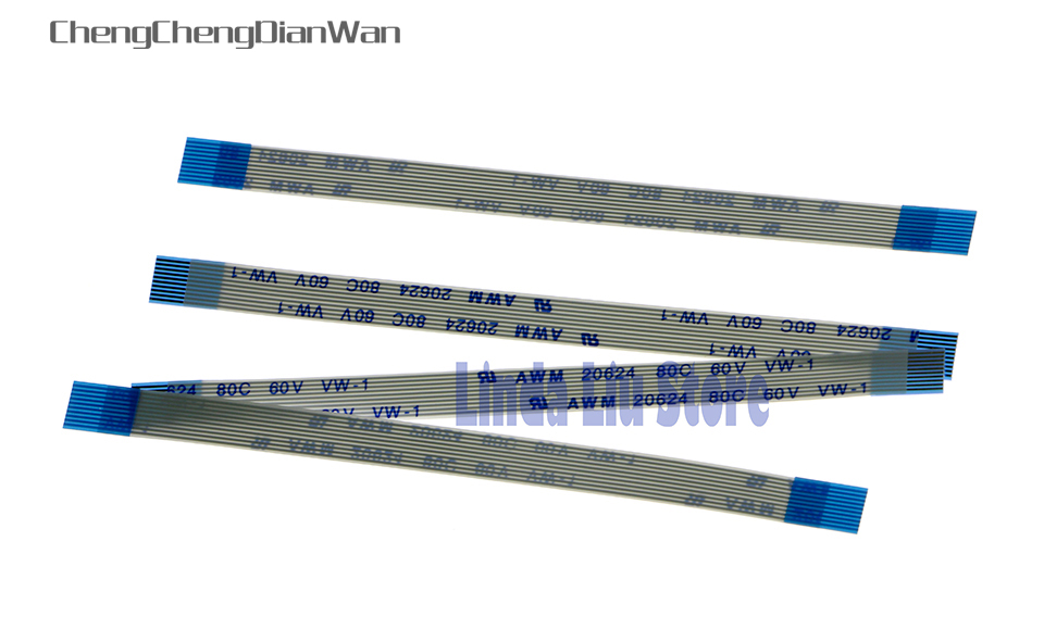 ChengChengDianWan 20pcs/lot Charge Power Flex Cable For PS3 Slim 2500 Power On Off Switch Reset Ribbon Cable 10 Pin