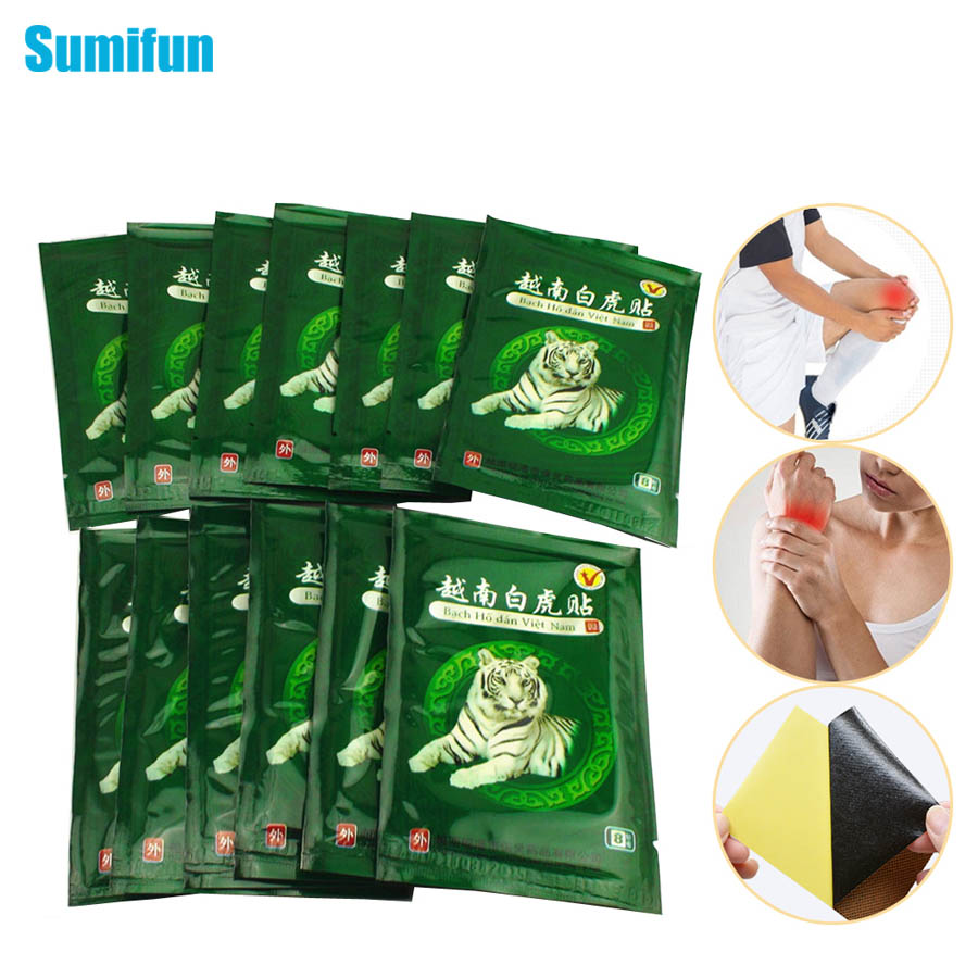 104pcs-vietnam-white-tiger-balm-pain-patch-body-neck-massager-meridians-stress-relief-arthritis-capsicum-plaster-c161