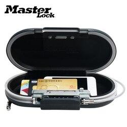 Caixa segura mini combinação portátil pessoal seguro senha bloqueio jóias caixa de dinheiro cartão telefone pequenas caixas de armazenamento com fio corda fixo
