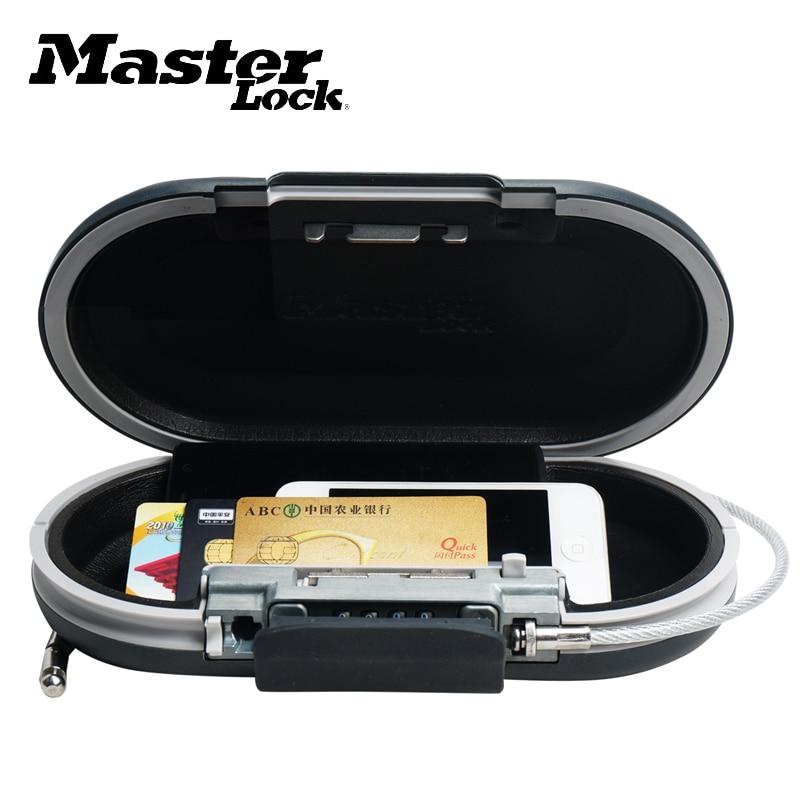 Coffre-fort Mini combinaison Portable coffre-fort personnel mot de passe serrure bijoux carte de paiement téléphone petites boîtes de rangement avec câble fixe