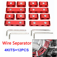 Spark Separators Plug Wire 3colors Wrenches Kit Leads 12pcs/set 8/9/10mm Divider Looms Fixed Organizer