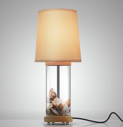 Simple modern Table Lamps fashion designer's lamp bedside warm American linen cover glass desk lamp LU71121 -YM simple table lamps fashion children room lamp bedside nightlight modern bedroom garden lightsing desk lamps lo1072 ym