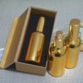 4pcs 100ml High temperature gold plated atomiser spray bottle With wooden box,empty refillable glass bottle, perfume subpackage