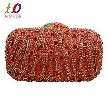 Stilvolle Rote Frauen Strass Abendtasche Luxus Kristall Verzierten Diamante Designer Erfasst Abendgesellschaft Geldbörse Damen Tasche 88270