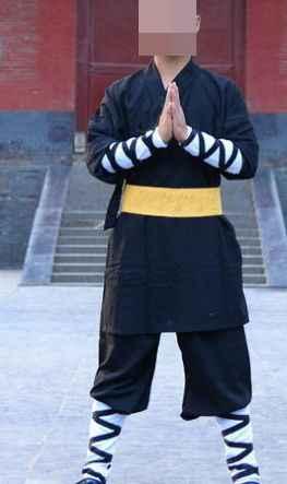 ユニセックス黒武道カンフースーツ僧侶服綿ウー shu 武術の制服少林寺僧スーツローブ