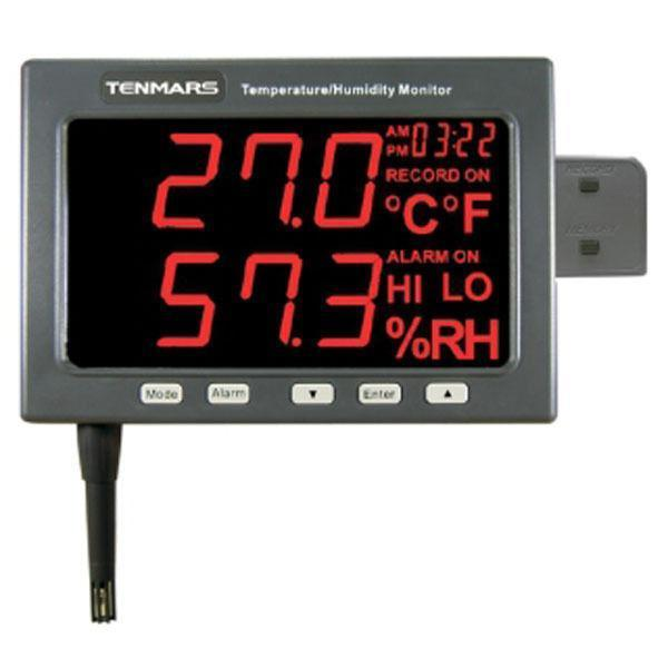 temperature humidity data logger with Wall Mounted LED type, easy reading