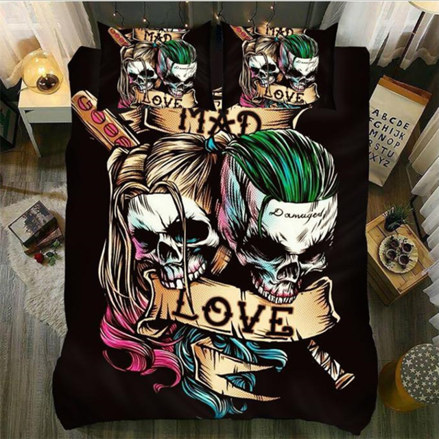 LOVE SKULL 3D BEDDING SETS