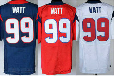 free shipping 2013 best blue red white JJ Watt jersey 99# j.j.watt number n name are sewn on man 40 44 48 52 56 m l xl xxl xxxl