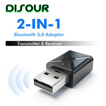 5,0 2 en 1 receptor de transmisor Bluetooth USB AUX 3,5mm estéreo música Audio KN320 Bluetooth adaptador inalámbrico para TV de coche(China)
