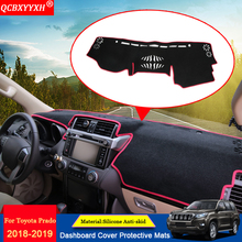 QCBXYYXH Car-styling Dashboard Avoid Light Pad Polyester Instrument Platform Cover Protective Mat Fit For Toyota Prado 2010-2018