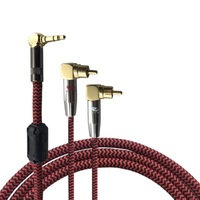 Angle Bend Stereo Jack 3 5mm Male To Dual RCA Male Audio Cable For IPhone Ipod