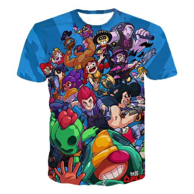 Game Brawl Stars 3D Printed T Shirts Spring Tops Summer Tees Men Women Short Sleeve Casual Personaity T Shirts 3XS-5XL